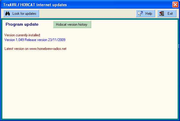 Hobcat - internet updates